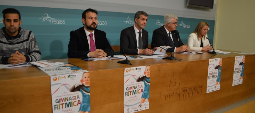 El presidente de la Diputación Álvaro Gutiérrez ha presentado el Regional de gimnasia rítmica de Fecam