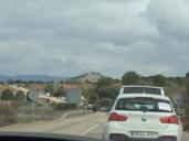 Una caravana de coches marcha desde Sacedón a Pareja contra el trasvase