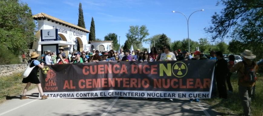 Marcha contra el ATC de Villar de Cañas