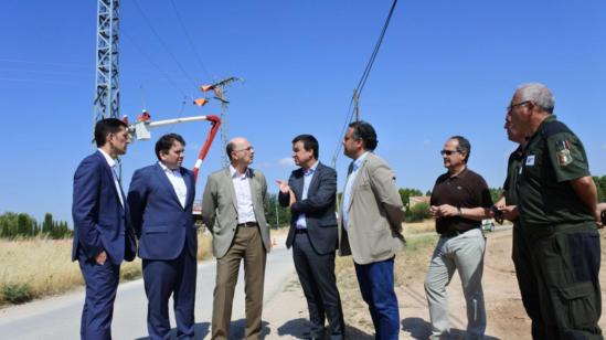 Martínez Arroyo, consejero de Medio Ambiente; y Venancio Rubio, de Iberdrola