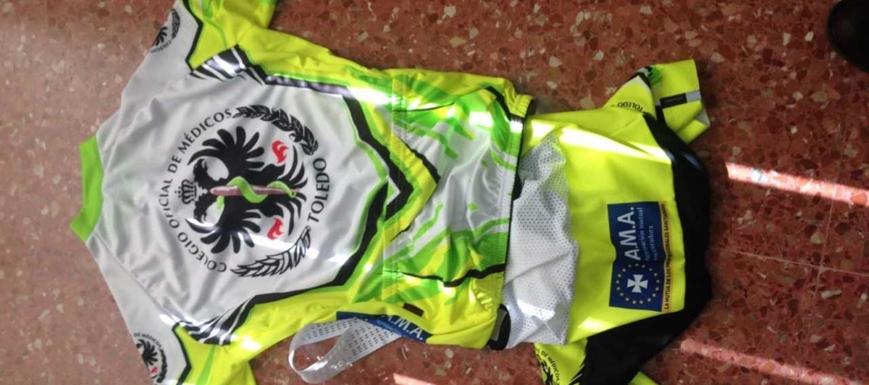 Esta es la equipación del Colegio de Médicos de Toledo en el Campeonato de España de ciclismo para médicos