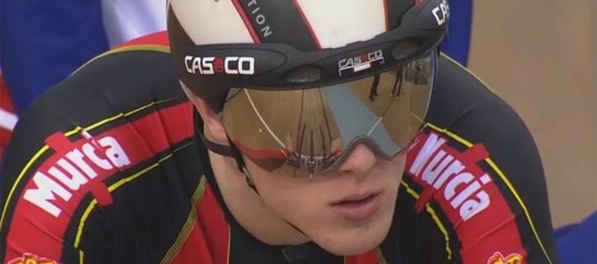Pepe Moreno compite en la Copa del Mundo de ciclismo