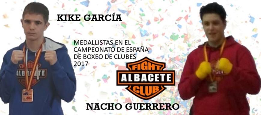 Kike García y Nacho Guerrero, que llevaron al Fight Club Albacete a lo más alto en el Nacional