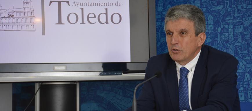 José Pablo Sabrido, portavoz en el Ayuntamiento de Toledo.