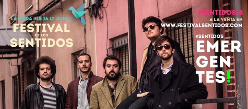 Cartel del Festival de los Sentidos con la banda ganadora