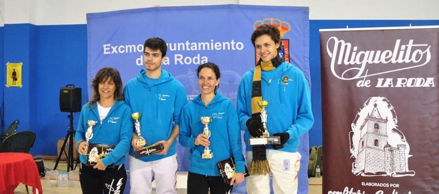 Los cuatro tiradores del Club Esgrima Toledo que lograron medallas en el Encuentro regional