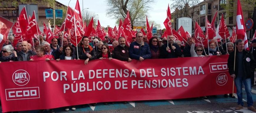 Manifestación por el futuro de las pensiones, en Toledo