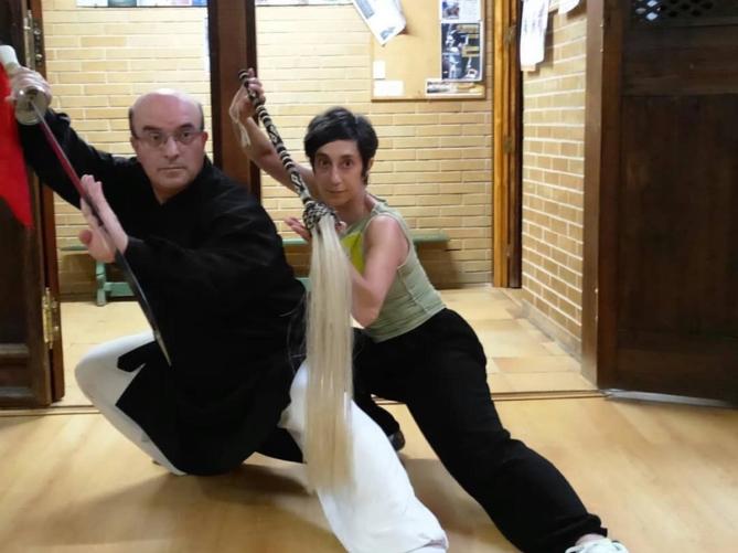 Esther-Olvido Corral, con Juan Carlos Serrato