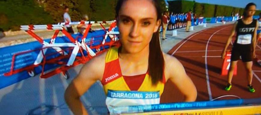 Paula Sevilla, en una foto de los Juegos del Mediterráneo