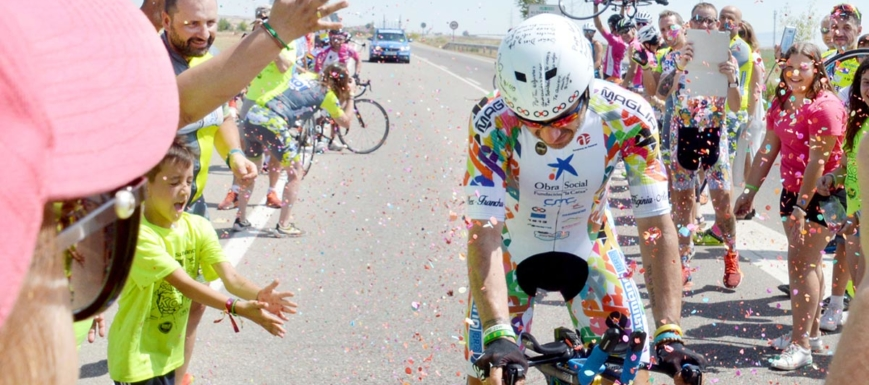 Imagen del récord de España de 12 horas en bicicleta