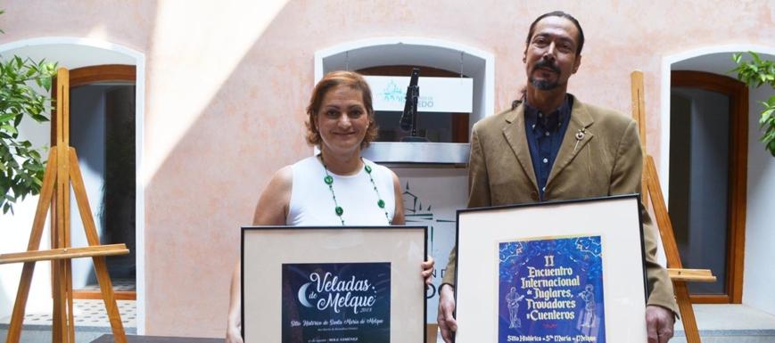 María Ángeles García y Luis María García, colaborador del Encuentro de Juglares, Trovadores y Cuenteros