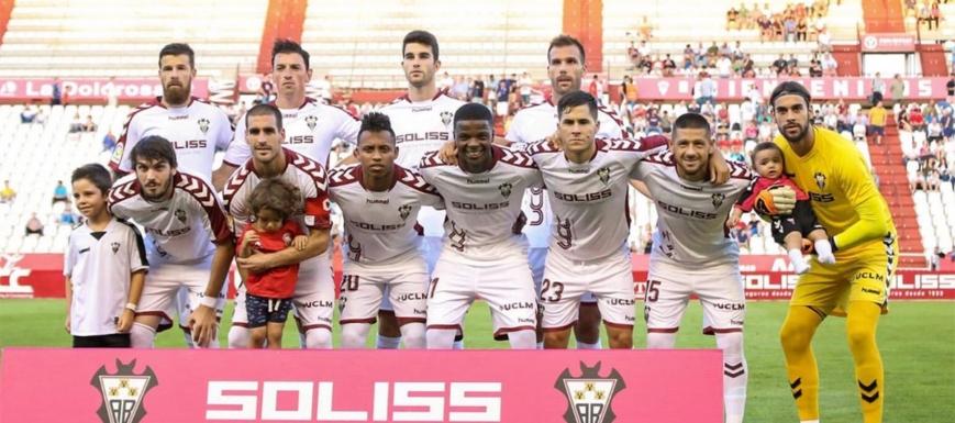 Formación del Albacete contra el Lugo