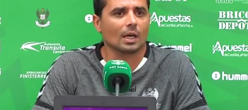 Fran Cano, en la previa del partido contra el Marchamalo