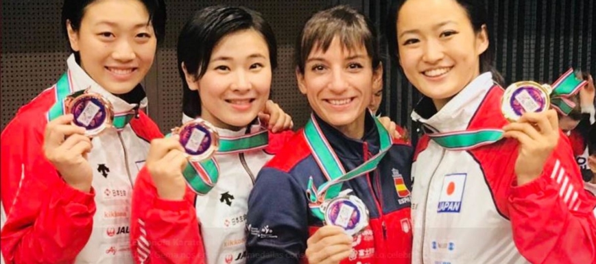 Sandra Sánchez fue la única karateka no japonesa del podio