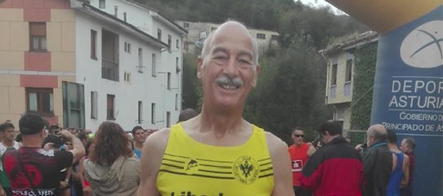 Miguel Ángel Navarro, segundo en el Angliru