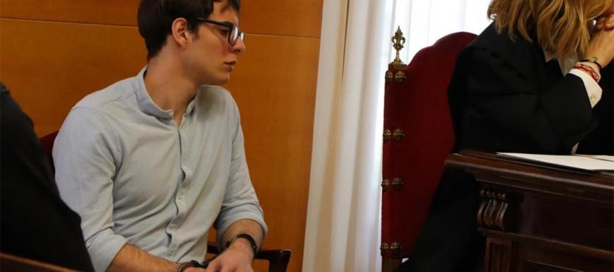 Patrick Nogueira, autor confeso del parricidio de Pioz, en el juicio