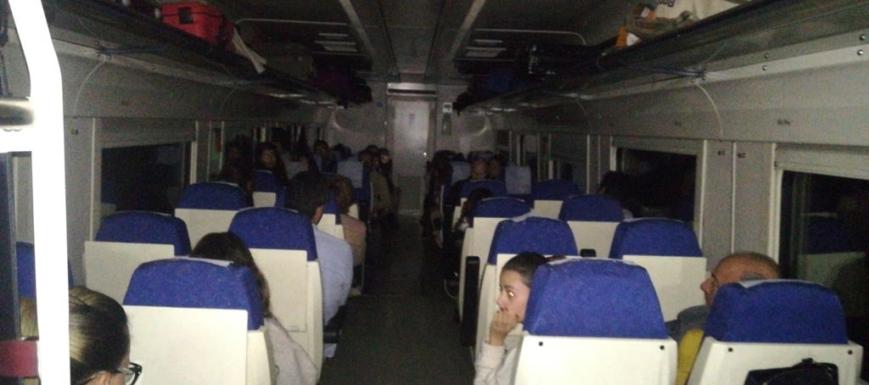 El tren se quedó sin luz ni calefacción