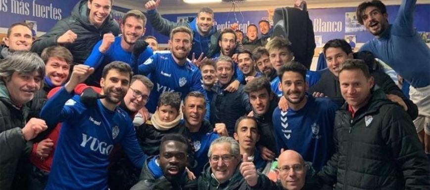 Los jugadores del Socuéllamos, después de eliminar al Ceuta en la Copa Federación