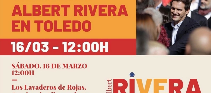 Albert Rivera estará este sábado en Toledo