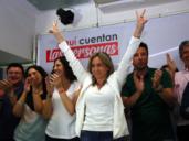 """Tolón, eufórica tras arrasar con 12 concejales por 6 del PP: """"Es un respaldo al Toledo del futuro"""""""