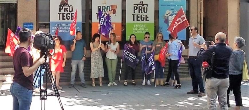Huelga de las 15 trabajadoras de Accept@-Santalucía en CLM
