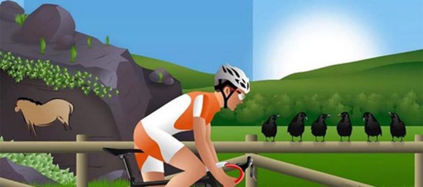 Detalle del cartel del Campeonato de España júnior y máster de ciclismo
