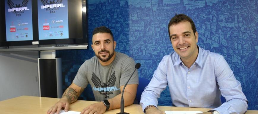 Javier García Ranchal (izquierda) y Pablo García, en la presentación de la prueba de CrossFit