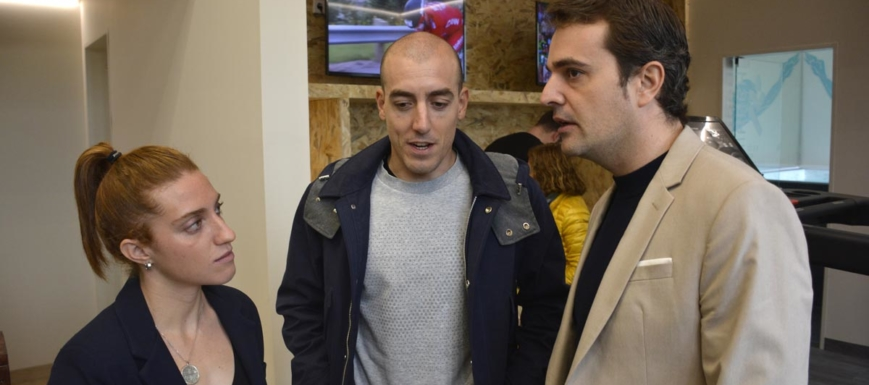 Fernando Alarza y Pablo García, en la inauguración del Centro de Alto Rendimiento de triatlón de Toledo