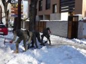 Efectivos del Ejército quita nieve en las provincias de Toledo y Guadalajara